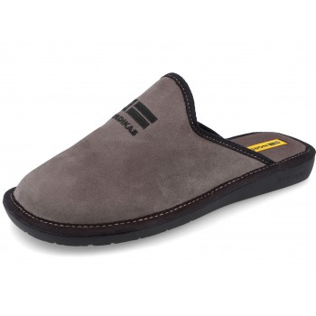 236 Suede grey Nordikas slippers for men