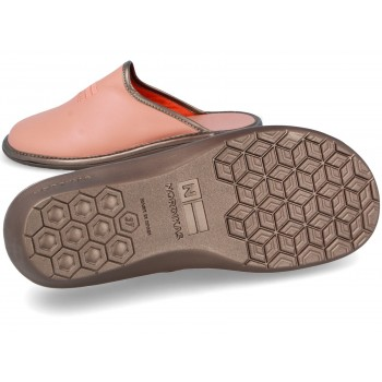 281 Nude Leather Nordikas slippers for women