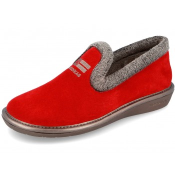 305 Suede Red Nordikas slippers for women