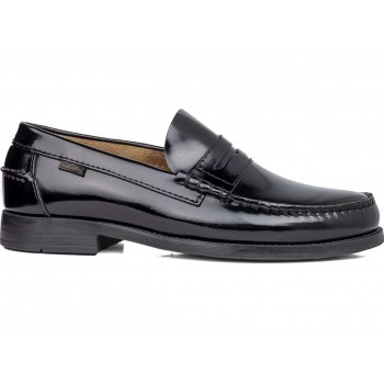Black moccasin for men 16100 PURE CONFORT