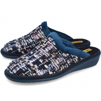 234 TRICOT NAVY BLUE slippers for women
