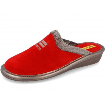 238 Chaussons velour rouge...