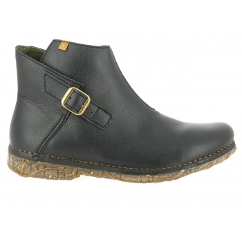 Vegan black ankle boots N5460T negro RUGGED ANGKOR