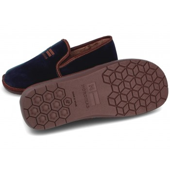 132 Suede Navy Blue Slippers