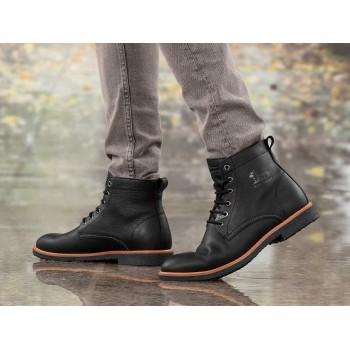 Glasgow Gtx C3 Napa Grass Black leather ankle boot for men